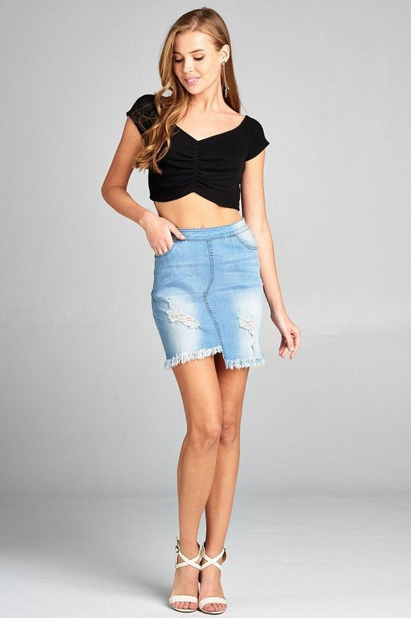 Denim Diva Mini-Skirt