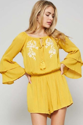 Sunshine on a Cloudy Day Romper