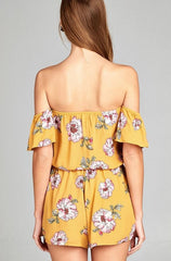 Garden Beauty Romper - Navy or Yellow