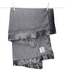 Little Giraffe  | Luxe™ Baby Blanket | Charcoal