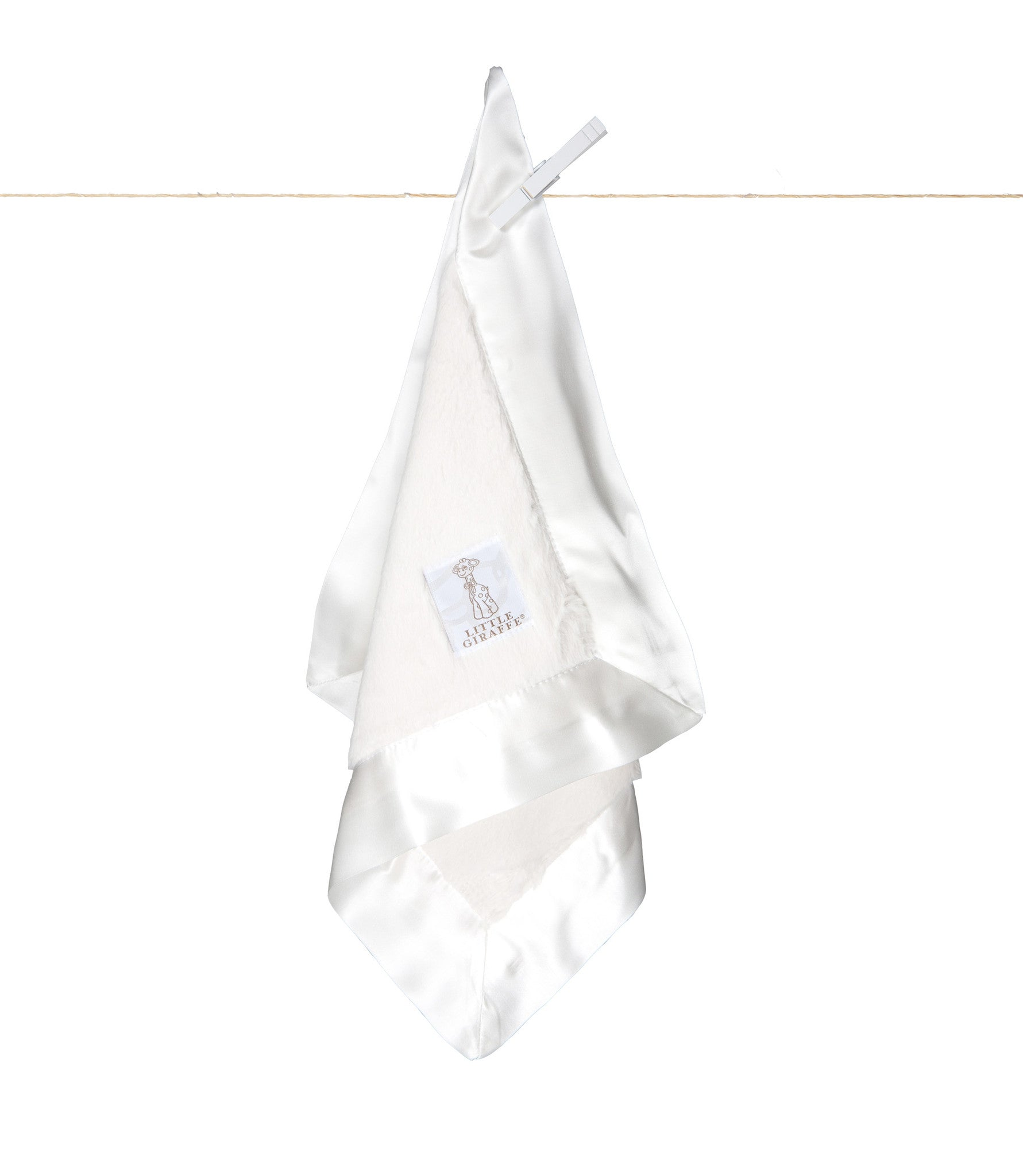 Little Giraffe  | Luxe™ Blanky | White