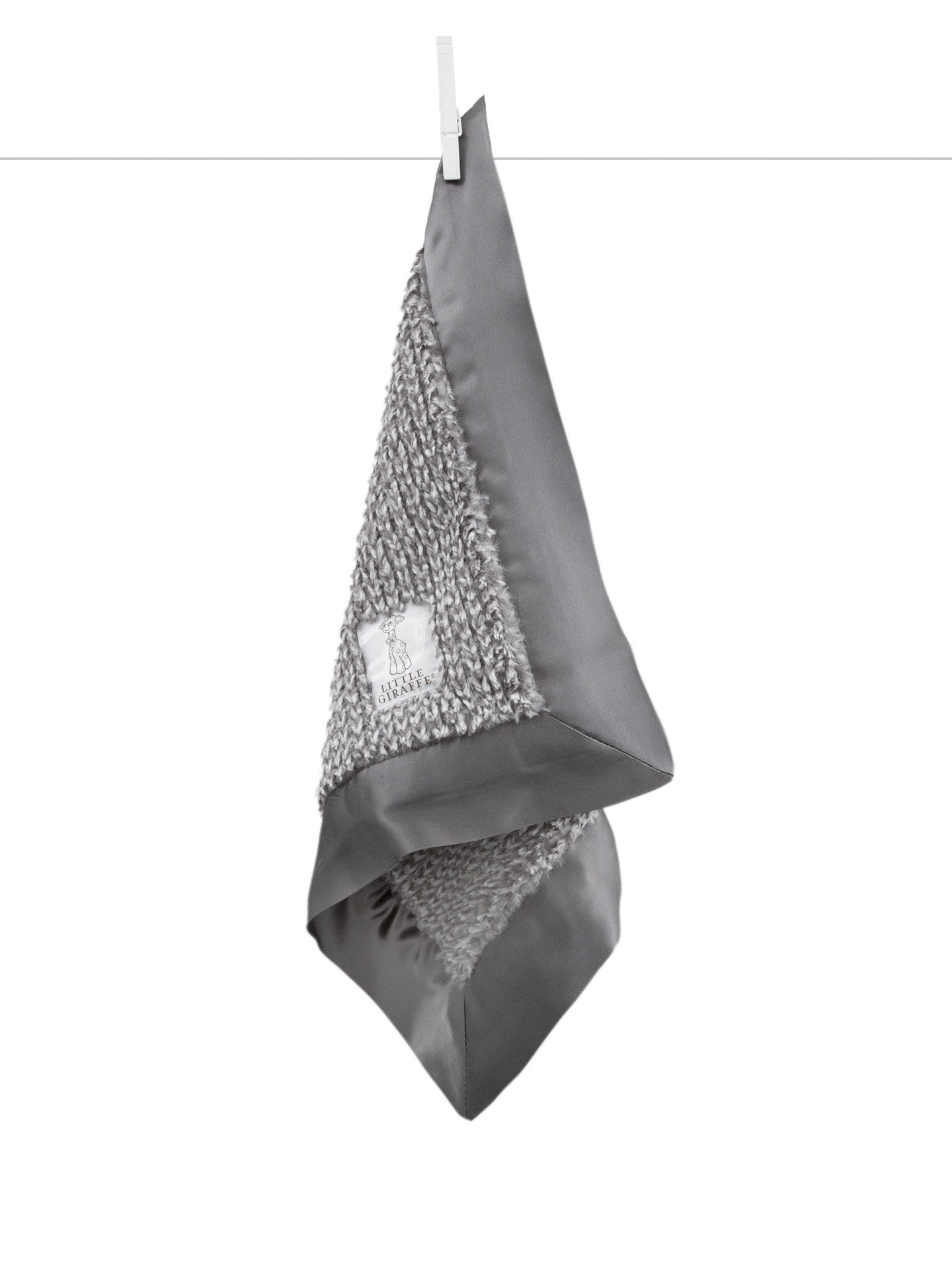 Little Giraffe | Luxe™ Herringbone Blanky | Charcoal