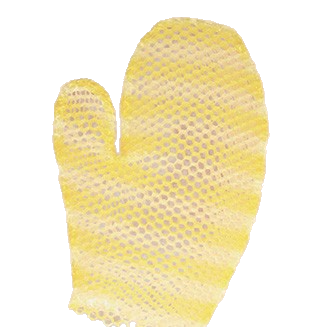 Supracor | Stimulite® Bath Mitt | Gold & White
