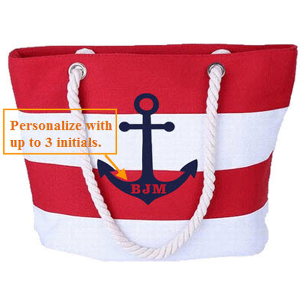Personalized Canvas Beach Bag