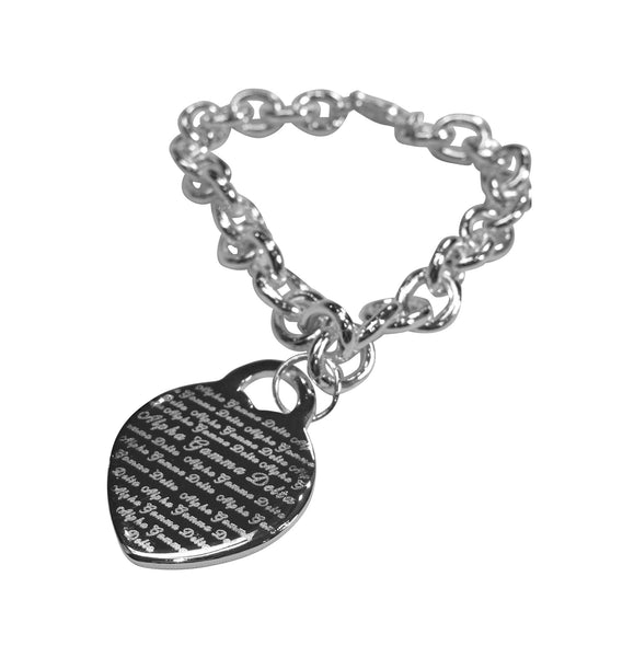 Sorority Silver Heart Bracelet