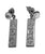Sorority Silver Bar Post Earrings