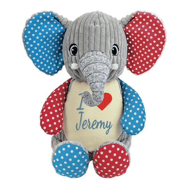 Large Personalized Stuffed Elephant