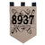 Burlap Garden Address Flag