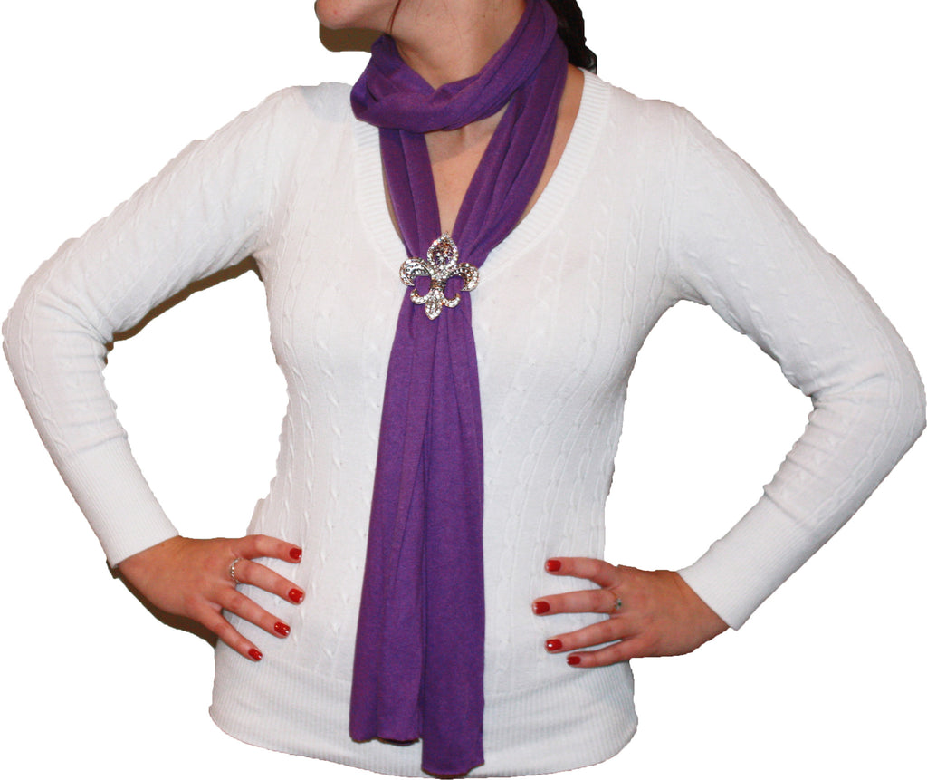 Magnetic crystal fleur de lis pendant scarf key your spirit llc magnetic crystal fleur de lis pendant scarf aloadofball Image collections