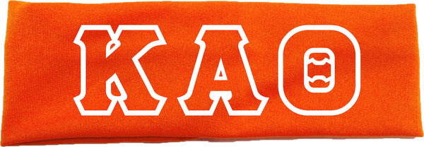 Sorority Headbands with Greek Lettering