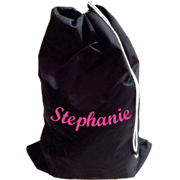 Large Personalized Waterproof Nylon Laundry Bag with Shoulder Strap