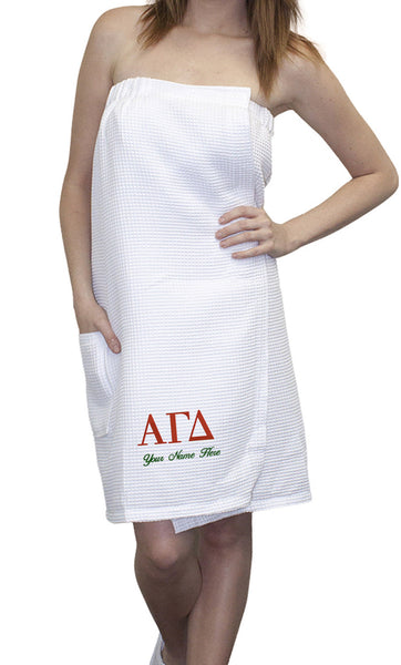 Sorority Embroidered Towel Wrap