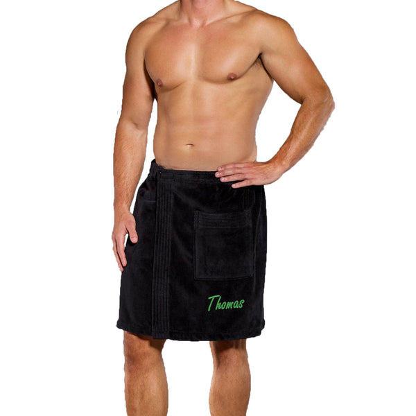 Men's Personalized Terry Velour Towel Wrap