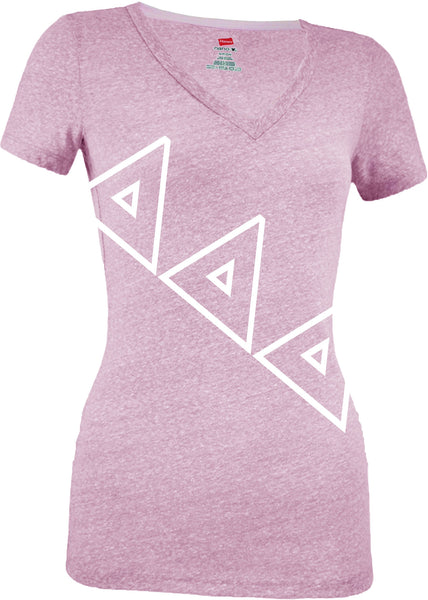 Sorority Pink V-Neck Tee Shirt