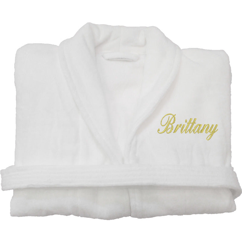 Personalized Premium Velour Robe J3Yly