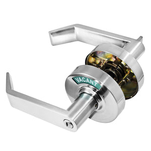 satin chrome vizilok indicator lock is ergonomically designed