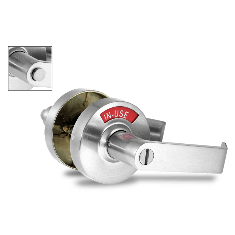 ADA Door Lock with Indicator in Satin Chrome - Right-Handed