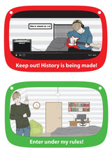 Load image into Gallery viewer, Bedroom Door Sign, funny teen privacy message, double-sided, dry-erase - Making History (C1FD)
