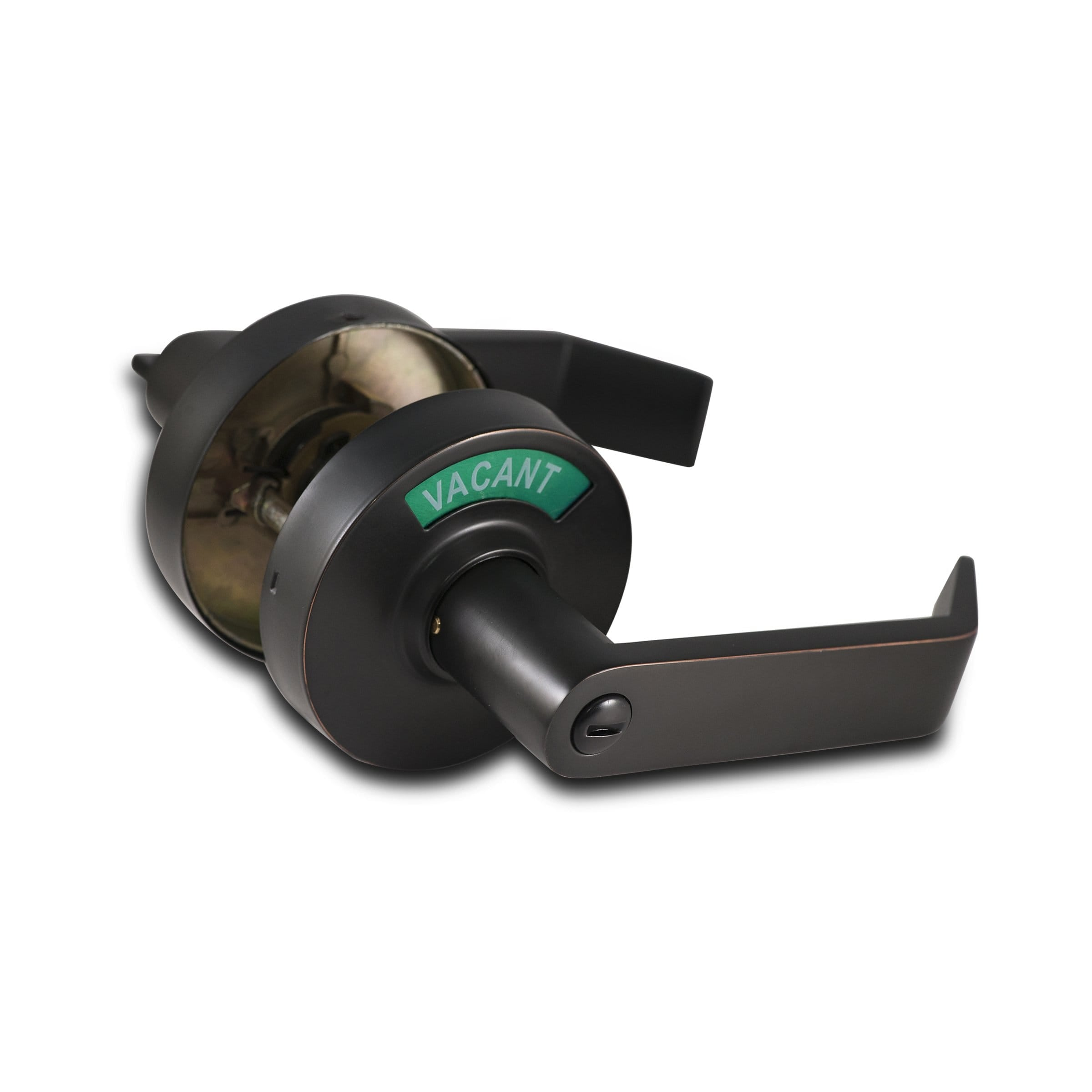 Oil Rubbed Bronze Door Lever with Vacant Indicator