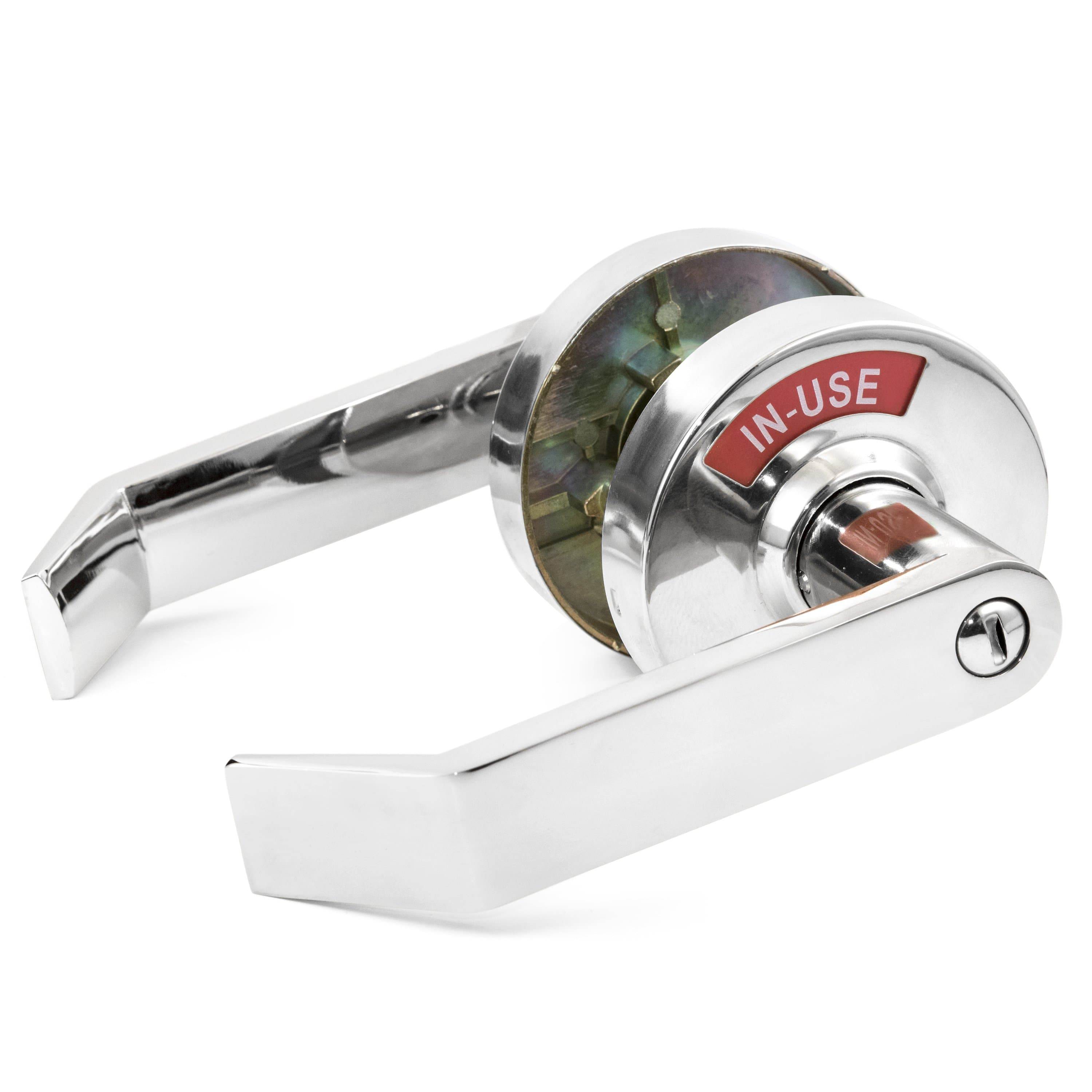 Privacy Lock with Occupancy Indicator in Polished Chrome Left-handed