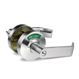3.2 Commercial Grade - Privacy Indicator Lock and Lever in 26D Satin Chrome with Two Keys (C3FE)