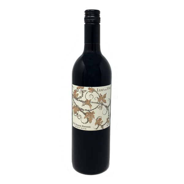 LEAF AND VINE, QUARTZ BLOCK ZINFANDEL, AMADOR COUNTY 2013