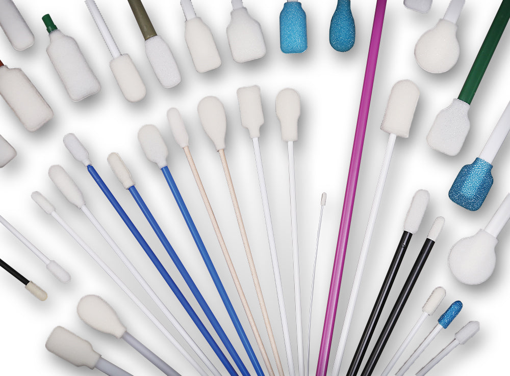 Customized Lint-free Foam Swabs for Cleaning Application