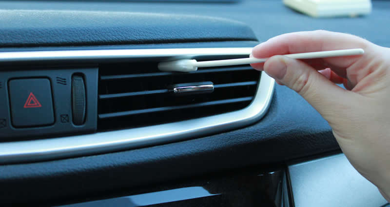 Don't Melt Like Your Ice Cream: Swab-its Can Help Clean Your Car's Air Vents