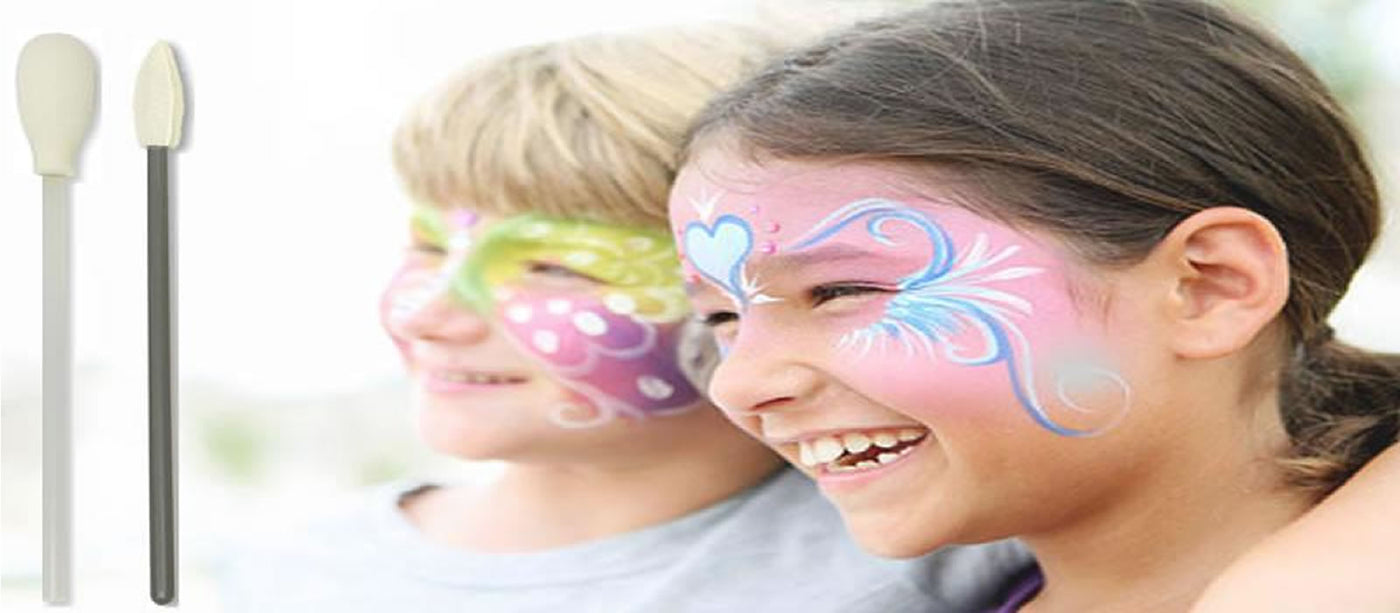 Foam Swabs for Face Painting and Backyard Fun