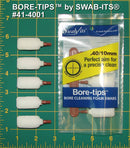 (12 Bag Case) .40cal/.44cal/10mm/410 Gauge Gun Cleaning Bore-tips® by Swab-its®: Barrel Cleaning Swabs: 41-4001-12CS