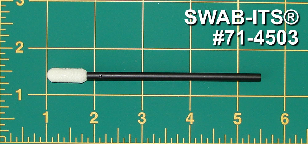 "(Case of 5,000 Swabs) 71-4503: 4.438"" Overall Length Foam Swab with Large Flexor Tip Foam Mitt and Polypropylene Handle"