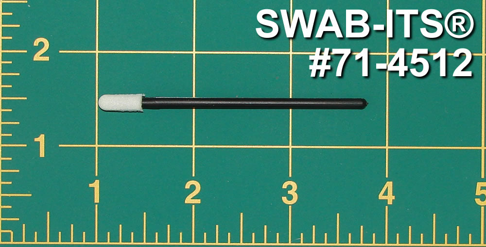 "(Bag of 50 Swabs) 71-4512: 2.79"" Overall Length Swab with Small Mitt and Polypropylene Handle"