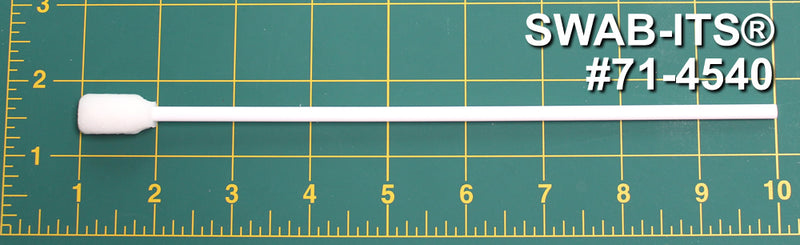 "(Bag of 500 Swabs) 71-4540: 9"" overall length swab with rectangular foam mitt on an extra-long polypropylene handle"