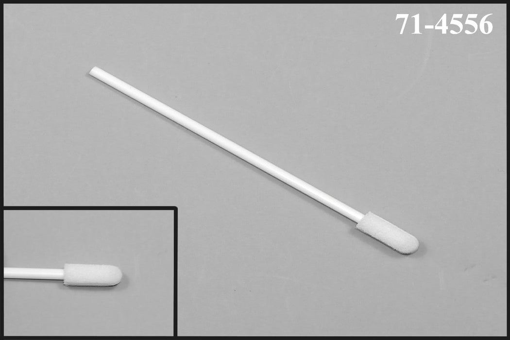 "(Bag of 500 Swabs) 71-4556: 2.94"" Overall Length Swab with Small Foam Mitt on a Polypropylene Handle"