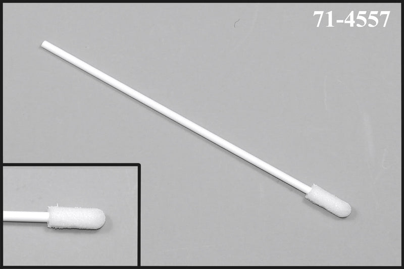 "(Bag of 50 Swabs) 71-4557: 4"" Overall Length Swab with Small Foam Mitt on a Polypropylene Handle"