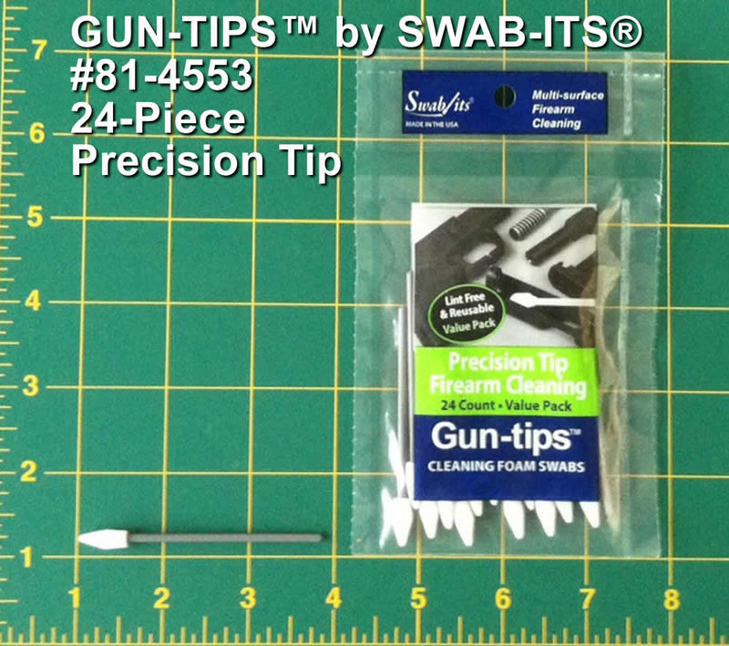 "(12 Bag Case) 3"" Precision Tip Gun Cleaning Swab Gun-tips® by Swab-its® Gun Cleaning Swabs: 81-4553-12-2"