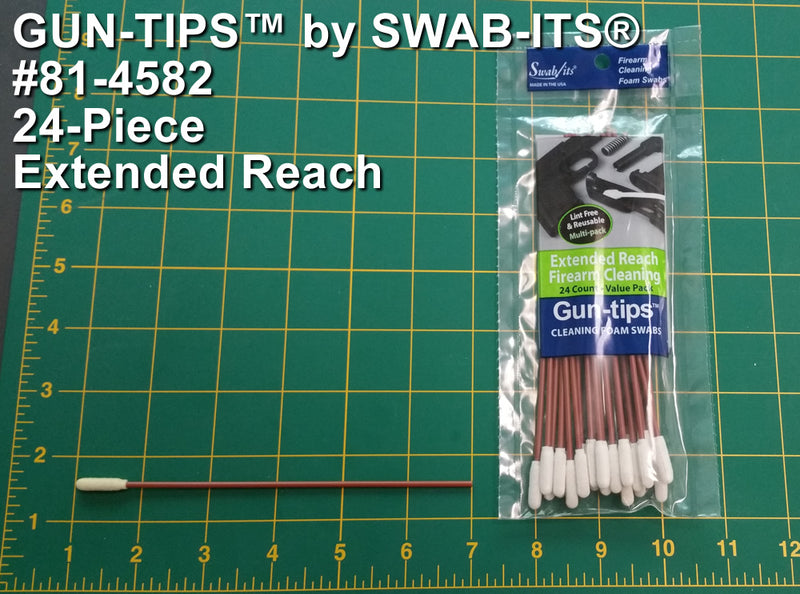 "(12 Bag Case) 6"" Extended Reach Gun Cleaning Swab Gun-tips™ by Swab-its® Gun Cleaning Swabs: 81-4582-12-2"