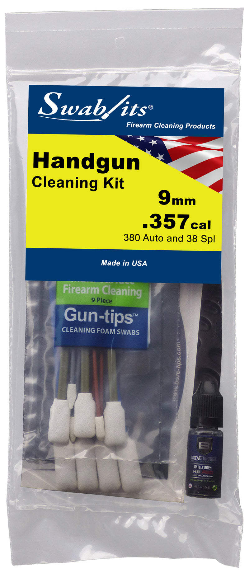 Swab-its® 9mm/.357cal/38spl/380auto Handgun Cleaning Kit: 44-002