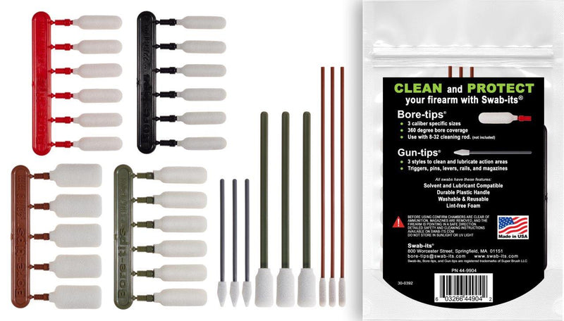 (NOWOŚĆ) Wacik-jego® .22cal/.243cal/.30cal/.40cal Rifle Firearm Cleaning Kit: 87-9904
