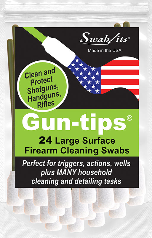 "(NEW) Bag of 24 Gun-tips® by Swab-its® 5"" Large Surface Swabs for Triggers, Actions and Wells: 81-9901-1"