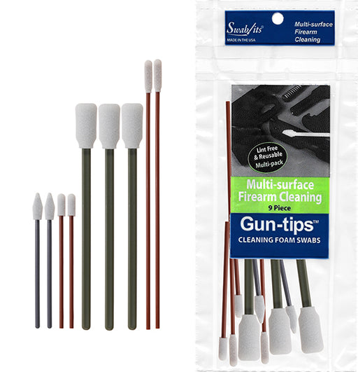 81-1209 9-Piece Gun Cleaning Foam Swab Kit of Gun-tips® by Swab-its®: Gun Cleaning Swabs