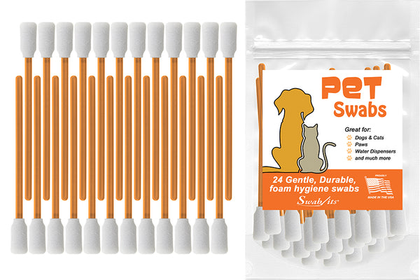 Swab-its® 24-piece Package of Pet Care Foam Swabs: 87-7902