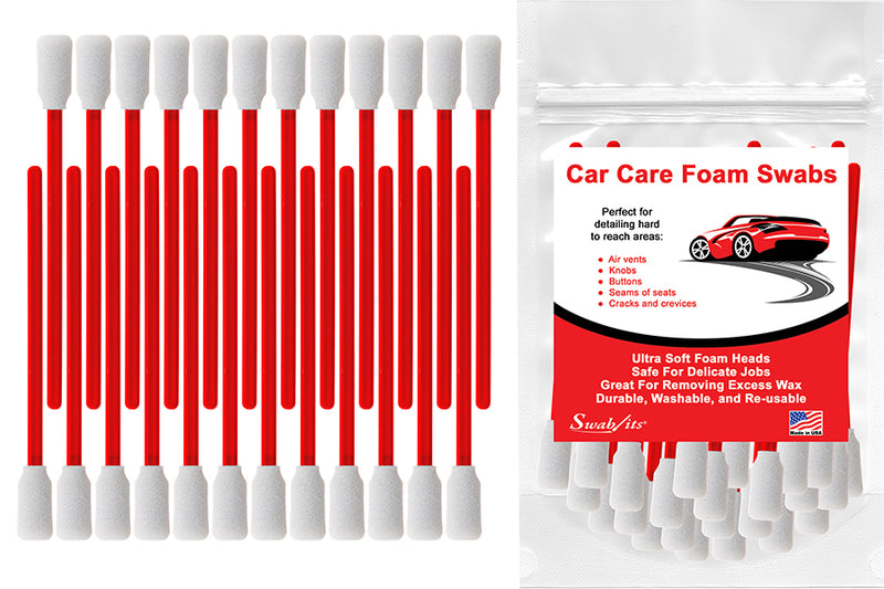 Swab-its® 24-piece Package of Auto Detailing Car Care Foam Swabs: 87-7904