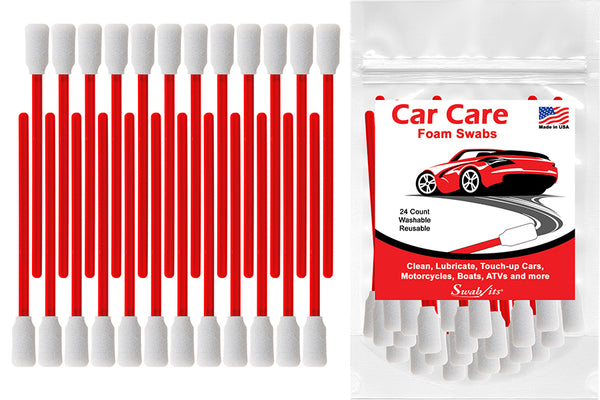 Swab-its® 24-piece Package of Car Care Foam Swabs: 87-7904
