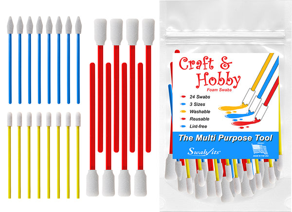 Swab-its® 24-bit Paket med Craft & Hobby Multi-Purpose Foam Svabbprover: 87-8202