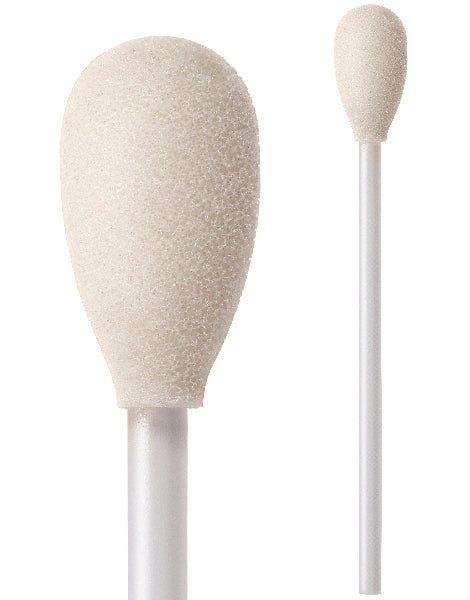 "71-4522: 4"" overall length swab with teardrop shaped foam mitt"