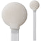 "(Bag of 500 Swabs) 71-4524: 8"" Overall Length Swab with Large Circular Foam Mitt and Polypropylene Handle"