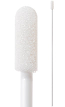 "(Bag of 50 Swabs) 71-4545: 6"" overall length swab with small foam mitt and polypropylene handle."