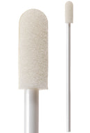 "71-4556: 2.94"" overall length swab with small foam mitt on a polypropylene handle."