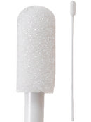 "71-4557: 4"" overall length swab with small foam mitt on a polypropylene handle."